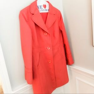 Ann Taylor mid-length trench coat - CORAL